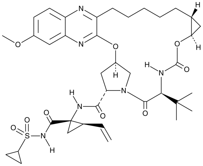 Figure-1: Structure of Grazoprevir.
