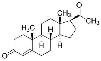 Fig. 1: Molecular Structure of Progesterone